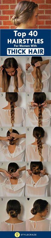 Eines der vielen Vorteile von dickem Haar ist, dass wir verschiedene Haare ausprobieren könne… – #ausprobieren #dickem #eines #haare