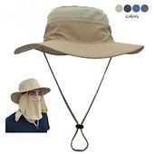 Turtle Tek Outdoors Angelhut / Sonnenhut mit abnehmbarer Hals – und Gesichtslasche, wasserdichter UV – Sonnenschutzfaktor 50+, Männer, Frauen, Kinder (Dunkelkhaki)   – Hiking & Camping