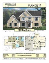 Plan 2611: THE RANDALL- Zweistöckiger Hausplan – Größere Wohnarchitektur – Res …