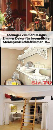 #Teenager Zimmer Designs Zimmer Dekor für Jugendliche: Steampunk Schlafzimmer  …