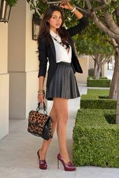 Being stylish in a mini skirt is a game of striking the right balance between vu