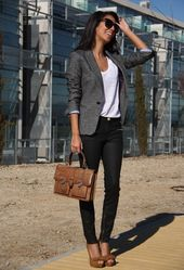 Business clothing: women's jeans for office work