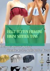 Bauchnabelpiercing Bikini Sommer Bräune Bauchnabelpiercing Bikini …