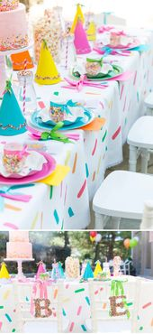Blakely's Sprinkle Themed 3rd Birthday Party! (Pizzazzerie)