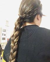 Great Photo Dutch braid mania 🤩 two side Dutch braids w/ a big Dutch braid ponytail to to…  Tips   Dutch braid mania 🤩 two side Dutch braids w…