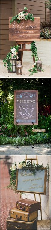 25 Awesome Wedding Welcome Signs to Rock!