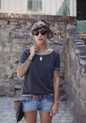 15 Styles of hairstyles with bandanas that you can do in less than 5 minutes