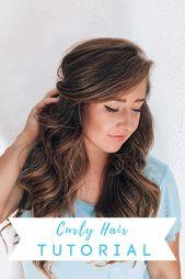 Loose Curly Hair Tutorial