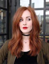 56 trendige Haare rot natürliche Rothaarige Kupfer