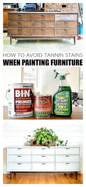 The Best Way to Paint Over Dark Stained Furniture  – Bloggers' Best DIY Ideas