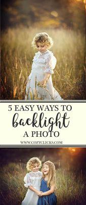 Möchten Sie wissen, wie ein Foto von hinten beleuchtet wird? Lesen Sie hier 5 Tipps zum Fotografieren für Anfänger …   – Fotografie