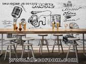 Custom size DIY living room wall murals