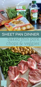 Pork Chop and Veggies Sheet Pan Dinner    – Best of Eat At Home