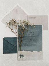 Invitations  Organic and timeless San Antonio Wedding Invitation. Vintage inspired wedding st...