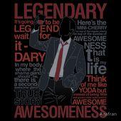 'Barney Stinson – Legendary T-shirt of Awesomeness' T-Shirt by Azafran