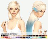 Sims 4 Hairs ~ Miss Paraply: Tsminh`s Heaven hair retextured