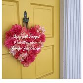 This DIY decoration is cooler and cheaper than store-bought Valentines door-hang...