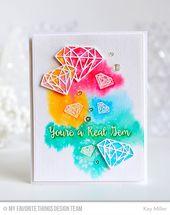 Embossed Diamonds Cards Shine Bright Like a Diamond Cards Embossed Gems Cards Blank Embossed Note Cards Precious Gems Gems Stationery