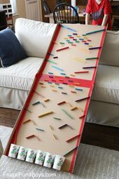 Turn a Cardboard Box into an Epic Marble Run – Frugal Fun For Boys and Girls