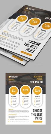 Features:1 PSD Files Easy Customizable and Editable Multipurpose Flyer 8.75″x11…. – Price list table ideas