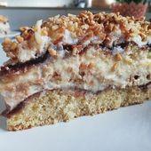 Crunchy walnut pie  – sweets