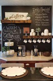 15 außergewöhnliche DIY Coffee Bar Ideen für Ihr gemütliches Zuhause – futuristisch