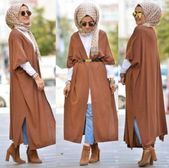4a6533aa0212fa83554f7905aa3ba2a8 - Neutral winter hijab outwears – Just Trendy Girls #muslimfashion,