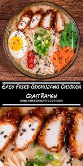 Easy Fried Gochujang Chicken Craft Ramen