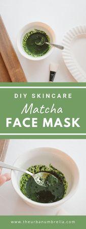 DIY Matcha Gesichtsmaske   – Natural Home & Skincare