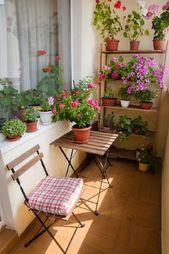 66 idées créatives de conception de petits balcons pour le printemps   – Home Improvement Inspiring Ideas