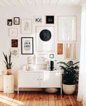 gallery wall in the entry way #home #style