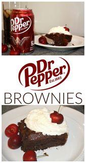 Ich bin ein Fan von Dr. Pepper und seitdem ich diese Dr. Pepper Brownies entdeckt habe …