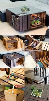 Fruit crate coffee table …