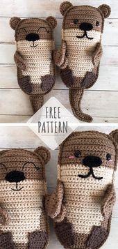 Amigurumi Otter Family [CROCHET FREE PATTERNS] #Amigurumi #crochet #freecrochetpattern #crochetlove #diy #tutorialcrochet #videocrochet #pattern