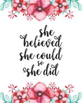 Free Printable Girl Power Wall Art…. | The Diary of a Frugal Family