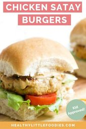 Chicken Satay Burgers – Healthy Little Foodies