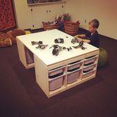 DIY Lego Tisch bestehend aus 2 IKEA Trofast Lagere…