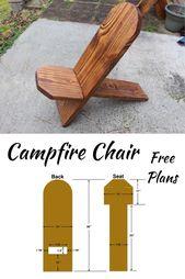 Campfire Chair Plans  – DIY