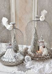 Top 40 Shabby Chic Christmas Decorations
