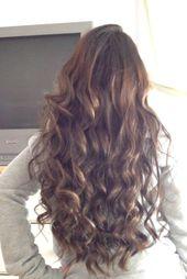 curly brown hair