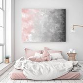 Blush Gray Painting, Digital Print, Scandinavian Decor, Ombre Art, Grey Watercolor Print, Abstract Art, Modern Print, 22×28 in, Print Avenue