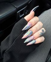 48 Multi Chrome Acrylic Nail Design Ideas to Look Really Sexy in Fall/Winter