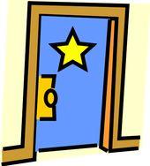 Star Hung On Dressing Room Clip Art