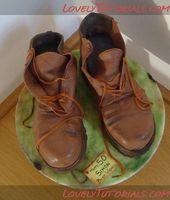Сarved 3D Boots Kuchen Tutorial Super, sehr realistisch. Ich mag das slouchy getragen …   – Sweets