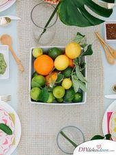 Stellen Sie Ihre eigene Sommertischdekoration her – Tischdekoration-Ideen   – Fall flower arrangements
