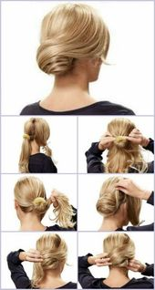 Right in the photo: Party hairstyle – #Well #festa #Foto #hochgesteckt #na #para – Kochen