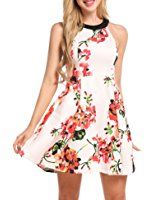 Damen Kleid Sommerkleid Strandkleid Tunika Abendkleid Trägerkleid in 4 Farben