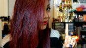 glitzerndes + bernsteinfarbenes + haar + mit + nur + burgunderfarbenen + highlights   Wie ich meine burgunderroten Haare nachbessere !! 05:24