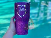 Personalized Nurse Tumbler, Glitter Tumbler, Glittered Tumbler, Stainless Steel … – Products