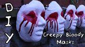 DIY Creepy Bloody Mask! Scary Halloween Decor! | #DIYwithJhoy | Vanessa Jhoy